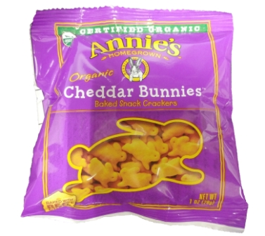Annie's Organic Cheddar Bunnies Crackers, 5-pack