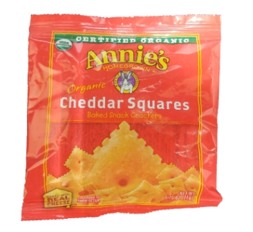 Annie's Organic Cheddar Square Crackers
