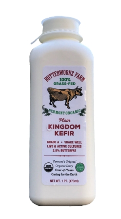 Butterworks Farm Organic Plain Kingdom Kefir, 1 pint