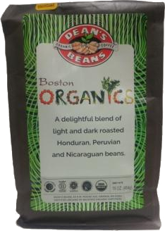 Dean's Beans Boston Organics Blend Organic Coffee, Drip Grind