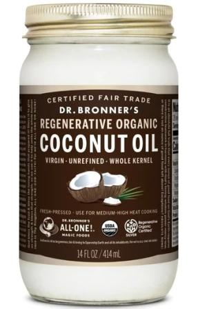 Dr. Bronner's Fair Trade Regenerative Organic Whole Kernel Coconut Oil
