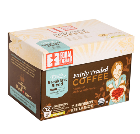 Equal Exchange Organic Breakfast Blend Coffee, Single-Serve Cups