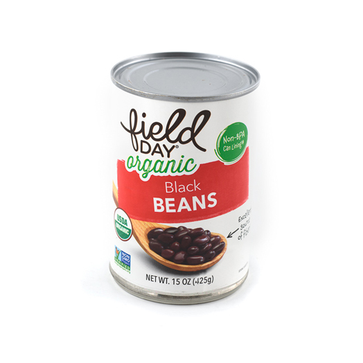Field Day Organic Black Beans, 15oz can