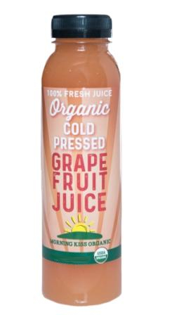 Morning Kiss Organic Cold Pressed Grapefruit Juice, 1 Liter