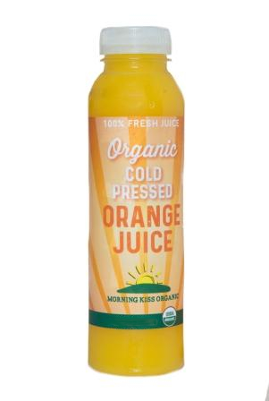 Morning Kiss Organic Cold Pressed Orange Juice, 1 Liter
