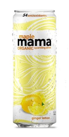 Maple Mama Beverages Organic Ginger Lemon Sparkling Beverage