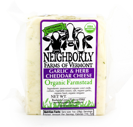 Neighborly Farms Organic Garlic Cheddar