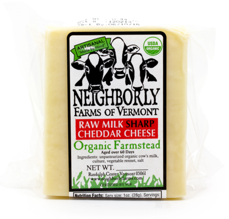 Neighborly Farms Organic Raw Milk Mild Cheddar Cheese