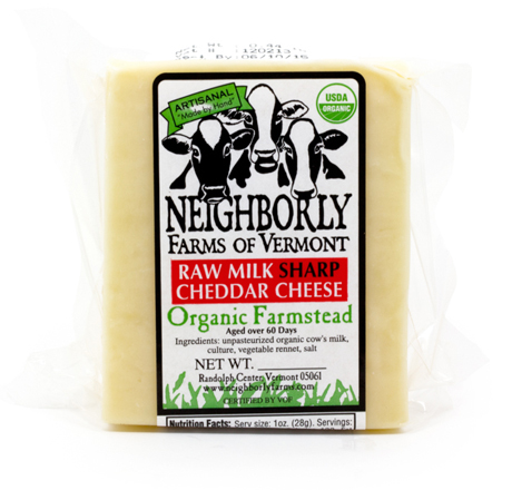 Neighborly Farms Organic Sharp Raw Milk Cheddar