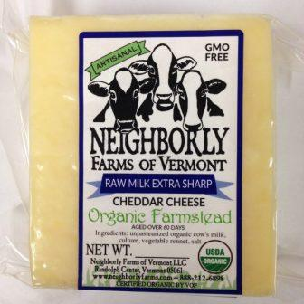 Neighborly Farms Organic Extra Sharp Raw Milk Cheddar Cheese