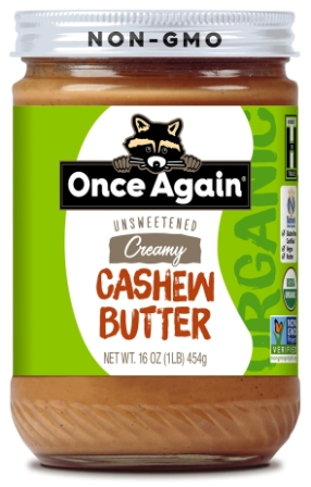 Once Again Organic Creamy Cashew Butter, 16 oz
