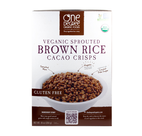 One Degree Organic Veganic Sprouted Cereal - Brown Rice Cacao Crisps