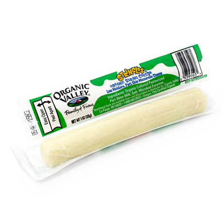 Organic Valley Mozzarella Stringles - Singles