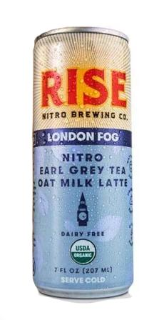Rise Brewing Co. Organic Nitro Cold Brew London Fog Earl Grey Tea Oat Milk Latte