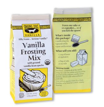 Singing Dog Vanilla Organic Vanilla Frosting Mix, 2-pack