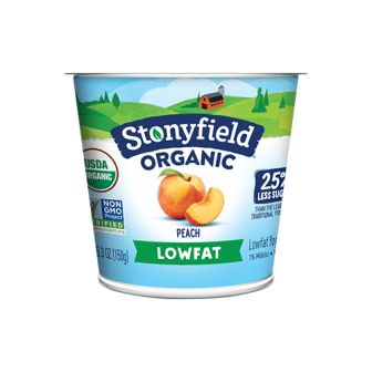 Stonyfield Farm Organic Smooth & Creamy Yogurt, Lowfat Peach, 5.3 oz