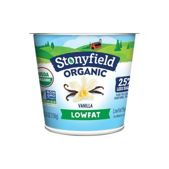 Stonyfield Farm Organic Smooth & Creamy Yogurt, Lowfat Vanilla, 5.3 oz