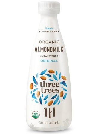 Three Trees Organics Unsweetened Organic Almond Milk