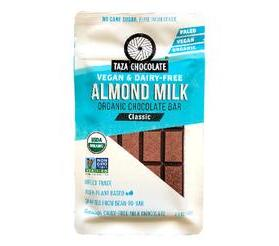 Taza Chocolate Organic Almondmilk Chocolate Bar, Classic
