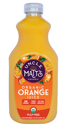 Uncle Matt's Organic Orange Juice, Pulp Free, 52 oz