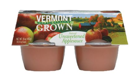 Vermont Village Organic Unsweetened Apple Sauce, 4 cups