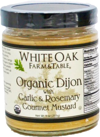 White Oak Farm & Table Organic Garlic & Rosemary Dijon Mustard