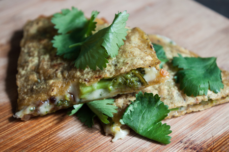 Broccoli and Red Onion Quesadillas