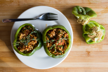 Stuffed Bell Pepper with Thyme